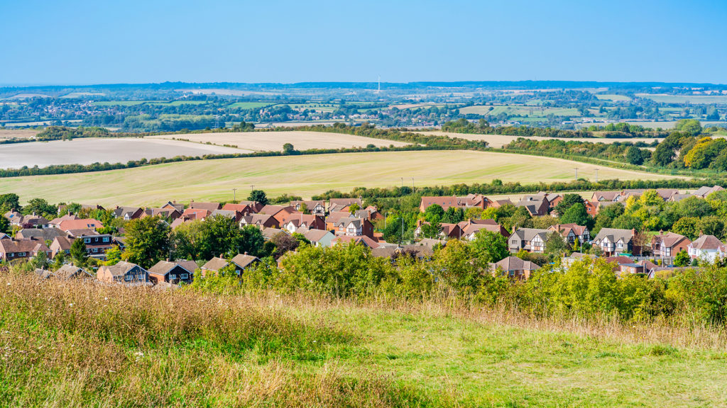 View of English countryside from Dunstable